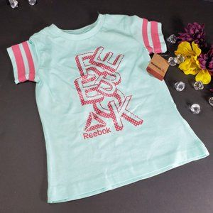 4/$25 Reebok Short Sleeve Teal  T-Shirt, New, 4T